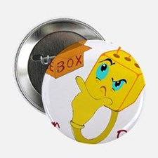 """Think outside the box 2.25"""" Button"""