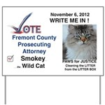 Vote Smokey Yard Sign