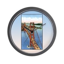 Vintage Golden Gate Bridge Wall Clock