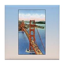 Vintage Golden Gate Bridge Tile Coaster
