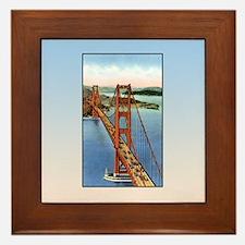 Vintage Golden Gate Bridge Framed Tile