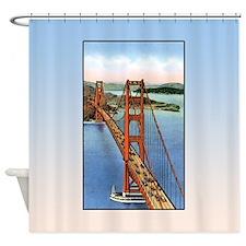 Vintage Golden Gate Bridge Shower Curtain