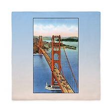 Vintage Golden Gate Bridge Queen Duvet