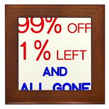 99% and 1% Framed Tile