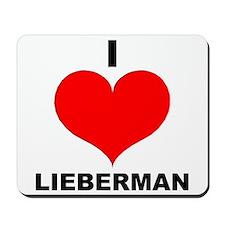 I Love Lieberman Mousepad