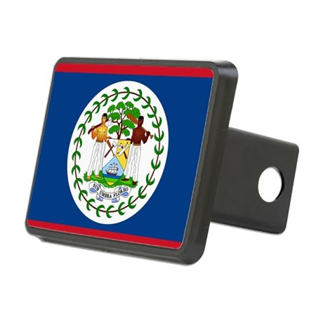 Flag of Belize Rectangular Hitch Cover