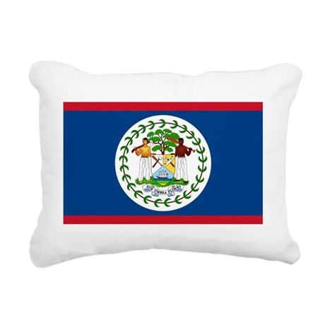 Flag of Belize Rectangular Canvas Pillow