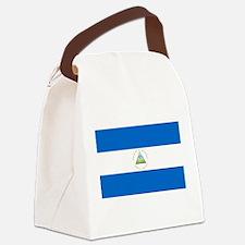 Flag of Nicaragua Canvas Lunch Bag