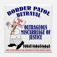 Border Patrol Betrayal Tile Coaster