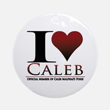 I Heart Caleb Ornament (Round)