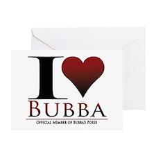 I Heart Bubba Greeting Card