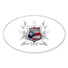 Puerto rican pride Oval Decal