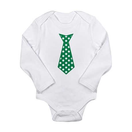 Green Polka Dot Tie Body Suit