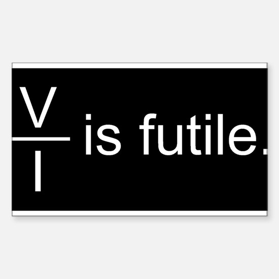 Resistance is Futile Sticker (Rectangle)