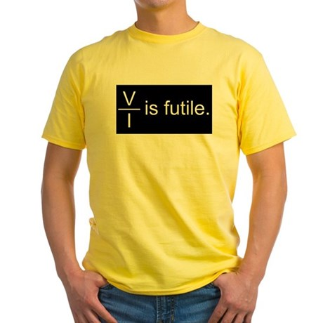 Resistance is Futile Yellow T-Shirt