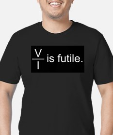 Resistance is Futile Men's Fitted T-Shirt (dark)