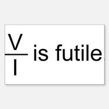 Resistance is Futile Sticker (Rectangle)