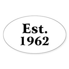 Est. 1962 Oval Decal