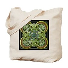 Green Celtic Tapestry Tote Bag
