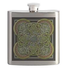 Green Celtic Tapestry Flask