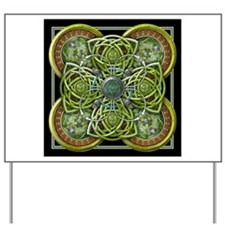 Green Celtic Tapestry Yard Sign