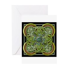 Green Celtic Tapestry Greeting Card