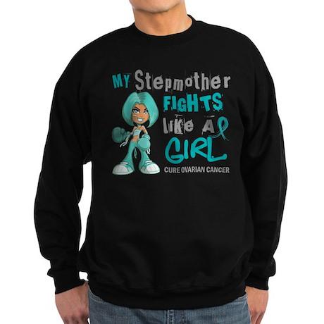 Fights Like a Girl 42.9 Ovarian Cancer Sweatshirt
