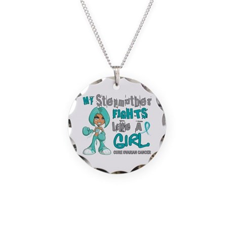Fights Like a Girl 42.9 Ovarian Cancer Necklace Ci