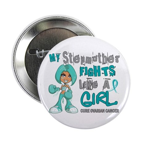 "Fights Like a Girl 42.9 Ovarian Cancer 2.25"" Butto"