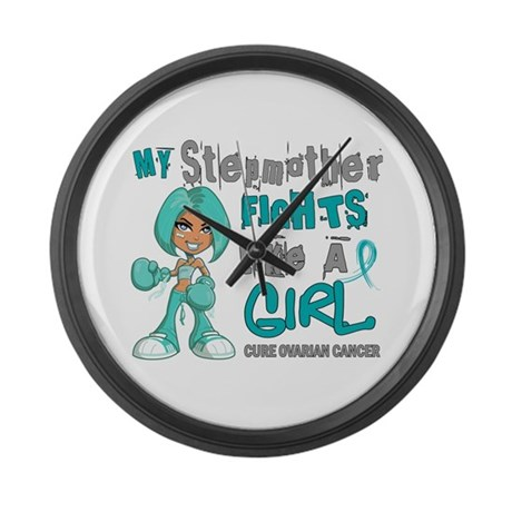 Fights Like a Girl 42.9 Ovarian Cancer Large Wall