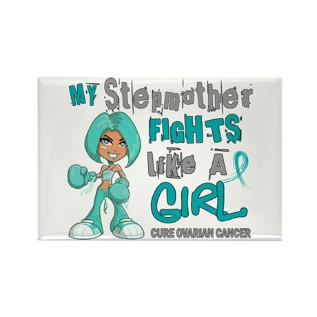 Fights Like a Girl 42.9 Ovarian Cancer Rectangle M