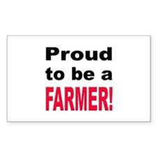 Proud Farmer Rectangle Decal