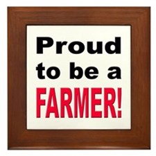 Proud Farmer Framed Tile