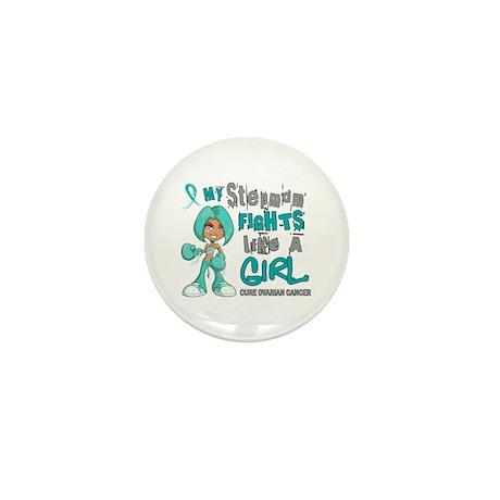 Fights Like a Girl 42.9 Ovarian Cancer Mini Button