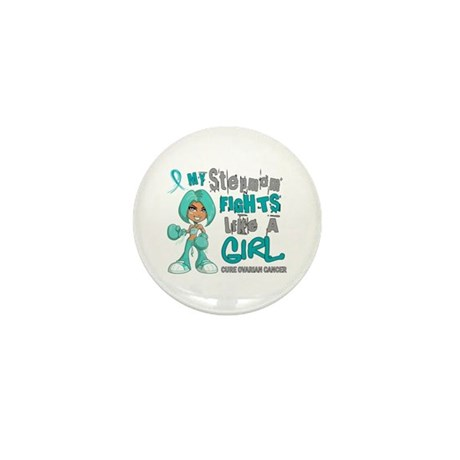 Fights Like a Girl 42.9 Ovarian Cancer Mini Button