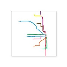Painted Chicago El Map Sticker