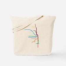 Cute Subway map Tote Bag