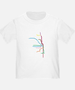 Painted Chicago El Map T-Shirt