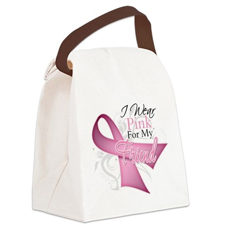 I Wear Pink For My Friend Canvas Lunch Bag