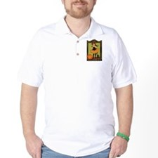 VINTAGE HALLOWEEN GIRL AND PUMPKIN T-Shirt