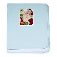 Vintage Santa Claus baby blanket