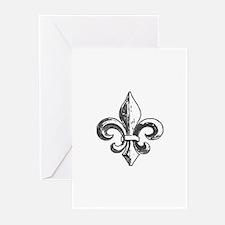 NOLA fleur de lis Saints Greeting Cards (Pk of 10)