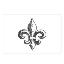 NOLA fleur de lis Saints Postcards (Package of 8)