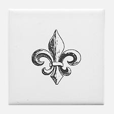 NOLA fleur de lis Saints Tile Coaster