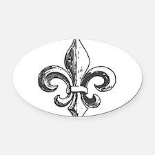 NOLA fleur de lis Saints Oval Car Magnet
