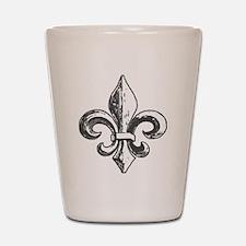NOLA fleur de lis Saints Shot Glass