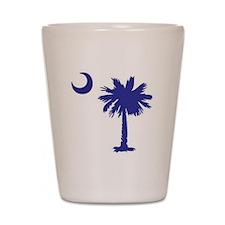 South Carolina Palm Tree State Flag Shot Glass