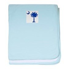 South Carolina Palm Tree State Flag baby blanket