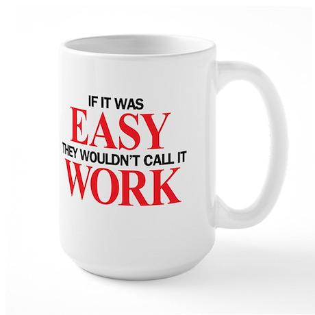 Left-handed Easy Work Large Mug