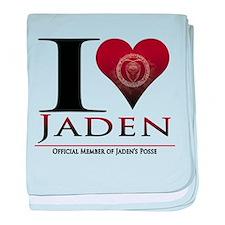 I Heart Jaden baby blanket